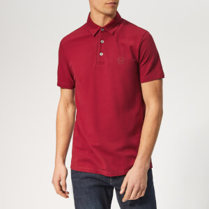Armani Exchange Men's Small Logo Polo Shirt - Biking Red