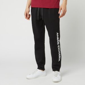 Armani Exchange Men's Leg Logo Sweat Pants - Black