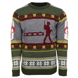 Star Wars Boba Fett Nordic Christmas Jumper - Green