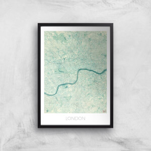 City Art Coloured London Map Art Print