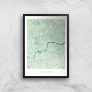 City Art Coloured London Map Art Print