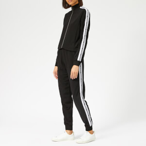 Karl Lagerfeld Women's Crepe Jersey Zip-Up Jumpsuit - Black