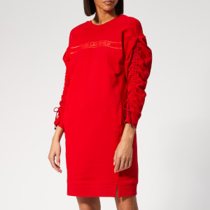 Karl Lagerfeld Women's Logo Sweater Dress with Logo Tape - Barbados Cherry