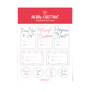 Merry Christmas Christmas Gift Tag Pack