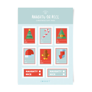 Naughty or Nice Christmas Gift Tag Pack