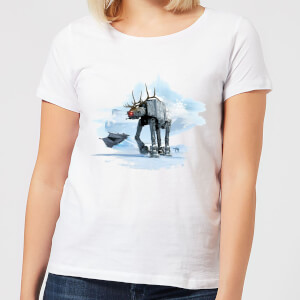 Star Wars AT-AT Reindeer Women's Christmas T-Shirt - White