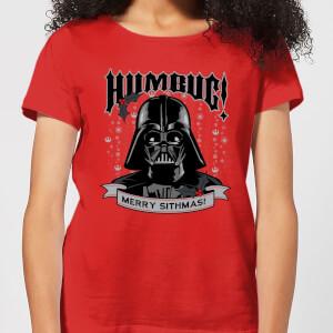 Star Wars Darth Vader Humbug Women's Christmas T-Shirt - Red