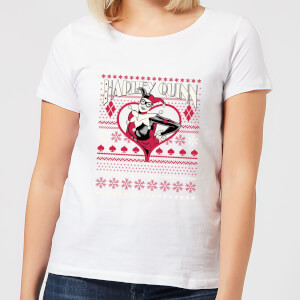 T-Shirt DC Harley Quinn Christmas - Bianco - Donna