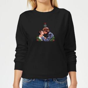 Star Wars Mistletoe Kiss Women's Christmas Sweatshirt - Black