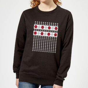 Marvel Deadpool Snowflakes Women's Christmas Sweatshirt - Black
