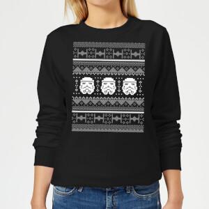 Star Wars Stormtrooper Knit Women's Christmas Sweater - Black