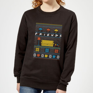 Friends Sofa Knit dames Christmas trui - Zwart