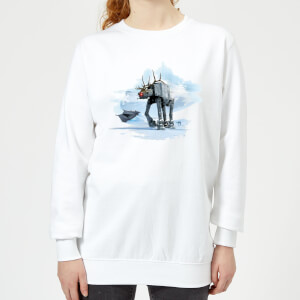 Star Wars AT-AT Reindeer Women's Christmas Sweater - White