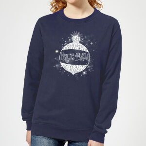 Harry Potter Yule Ball Baubel Women's Christmas Sweater - Navy