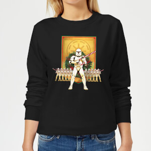 Star Wars Candy Cane Stormtroopers Women's Christmas Sweater - Black