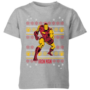 Marvel Iron Man Kids' Christmas T-Shirt - Grey