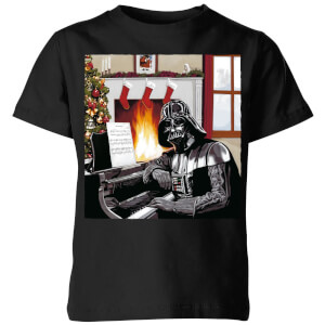 T-Shirt Star Wars Darth Vader Piano Player Christmas- Nero - Bambini