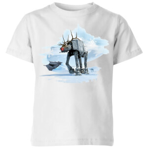 Star Wars AT-AT Reindeer Kids' Christmas T-Shirt - White