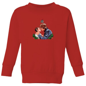 Star Wars Mistletoe Kiss Kids' Christmas Sweatshirt - Red