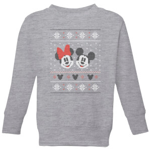 Disney Mickey and Minnie Kids' Christmas Sweatshirt - Grey