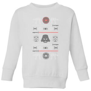 Star Wars Imperial Knit Kids' Christmas Sweatshirt - White