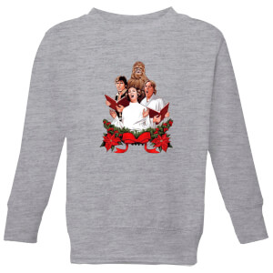 Star Wars Jedi Carols Kids' Christmas Sweatshirt - Grey