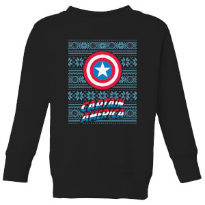 Marvel Captain America Kids' Christmas Sweater - Black