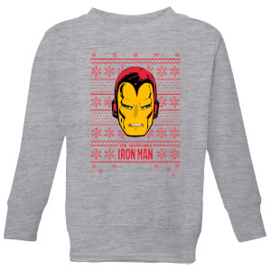 Felpa Marvel Iron Man Face Christmas - Grigio - Bambini
