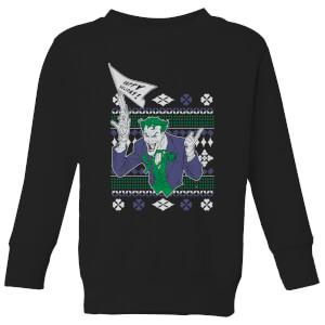 DC Joker Kinder Weihnachtspullover - Schwarz