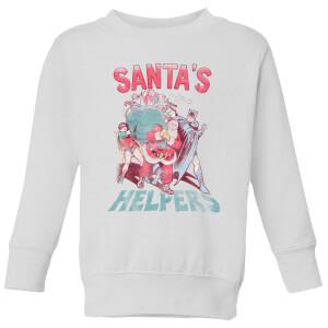 DC Santa's Helpers Kinder Weihnachtspullover - Weiß