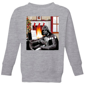 Star Wars Darth Vader Piano Player Kids' Christmas Sweatshirt - Grey