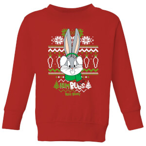 Looney Tunes Bugs Bunny Knit Kids' Christmas Sweater - Red