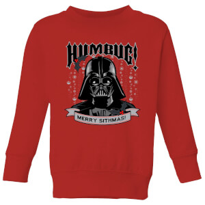 Star Wars Darth Vader Humbug Kids' Christmas Sweater - Red