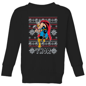 Marvel Thor Kids' Christmas Sweatshirt - Black