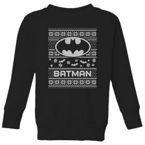 DC Batman Kids' Christmas Sweatshirt - Black