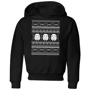 Star Wars Stormtrooper Knit Kids' Christmas Hoodie - Black