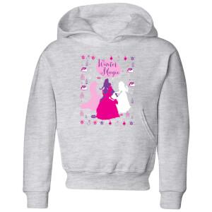 Disney Prinsessen Silhouetten kinder kerst hoodie - Grijs