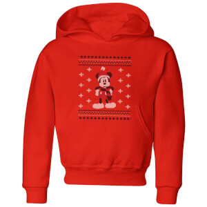 Disney Mickey Scarf Kids' Christmas Hoodie - Red