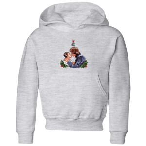Star Wars Mistletoe Kiss Kids' Christmas Hoodie - Grey