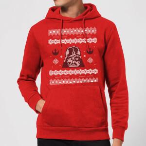 Felpa con cappuccio Star Wars Darth Vader Knit Christmas- Rosso