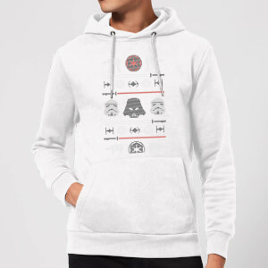 Star Wars Imperial Knit Christmas Hoodie - White