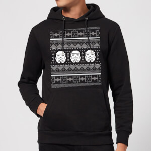 Star Wars Stormtrooper Knit Christmas Hoodie - Black