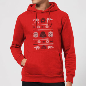 Star Wars Imperial Knit Christmas Hoodie - Red