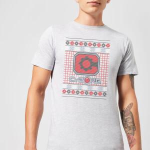 DC Cyborg Knit Herren Christmas T-Shirt - Grau