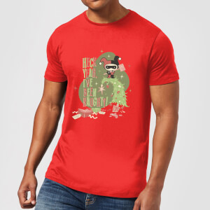 DC Heck Yeah I've Been Naughty! Men's Christmas T-Shirt - Red