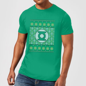 T-Shirt DC Green Lantern Knit Christmas - Kelly Green - Uomo