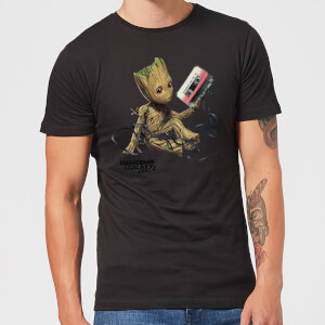 Guardians Of The Galaxy Groot Tape Herren Christmas T-Shirt - Schwarz