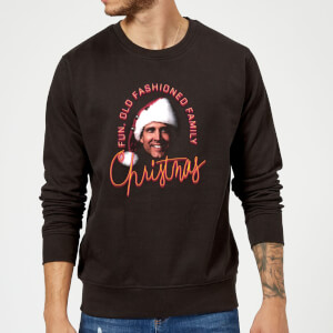 National Lampoon Fun Old Fashioned Family Christmas Weihnachtspullover - Schwarz