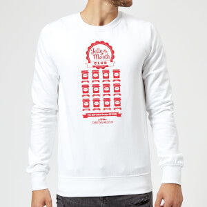 National Lampoon Jelly Of The Month Club Christmas Sweatshirt - White