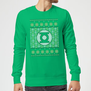 DC Green Lantern Knit Christmas Sweatshirt - Kelly Green